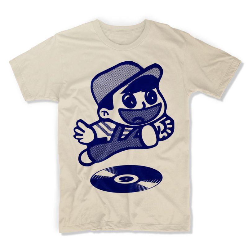 IX-TShirt Let's Go! - Cream