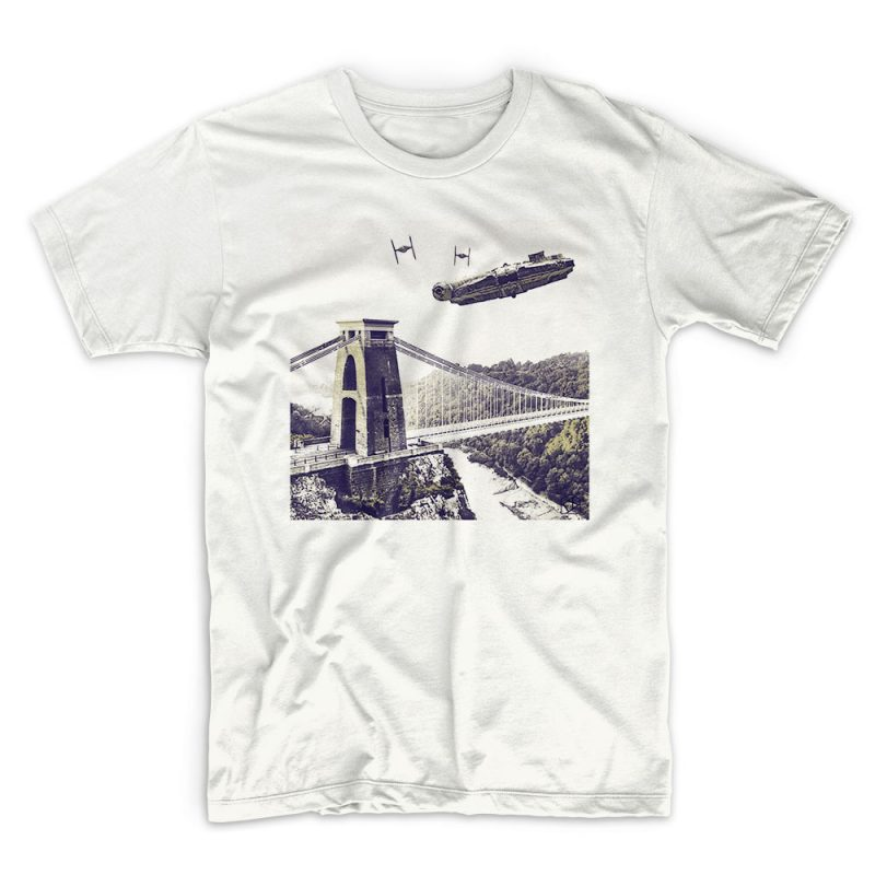 IX T shirt Star Wars - Millennium white