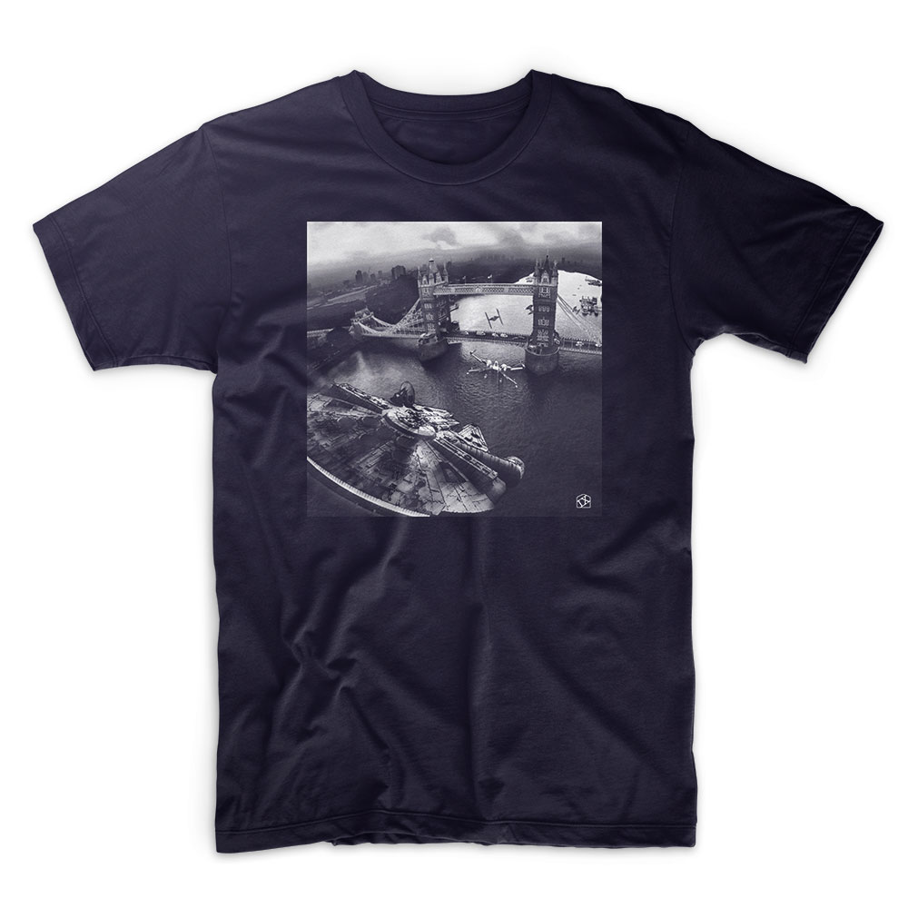 IX T Shirt - Star Wars - Incident at Tower Bridge - Navy T shirt