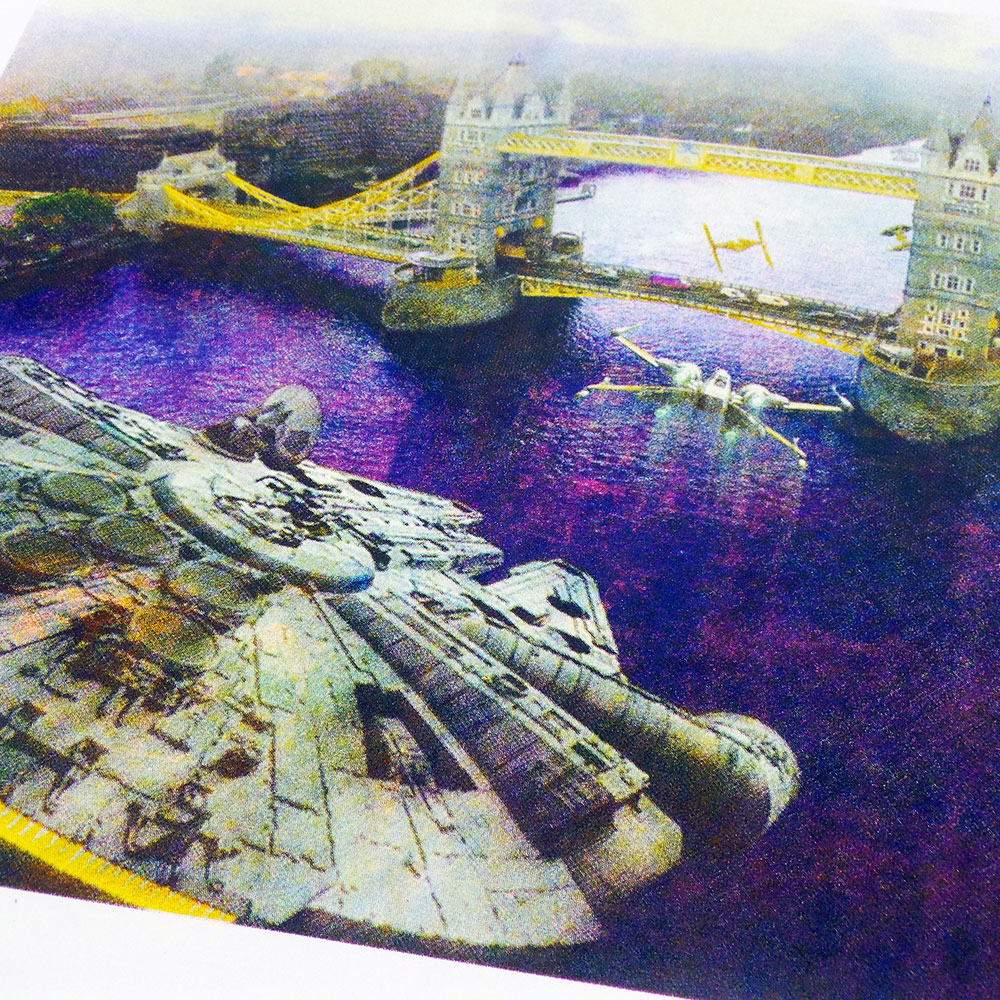Incident at Tower Bridge - Star Wars v London screen print