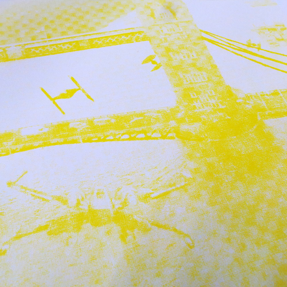 Star Wars - Incident at Tower Bridge - Screen print - Yellow
