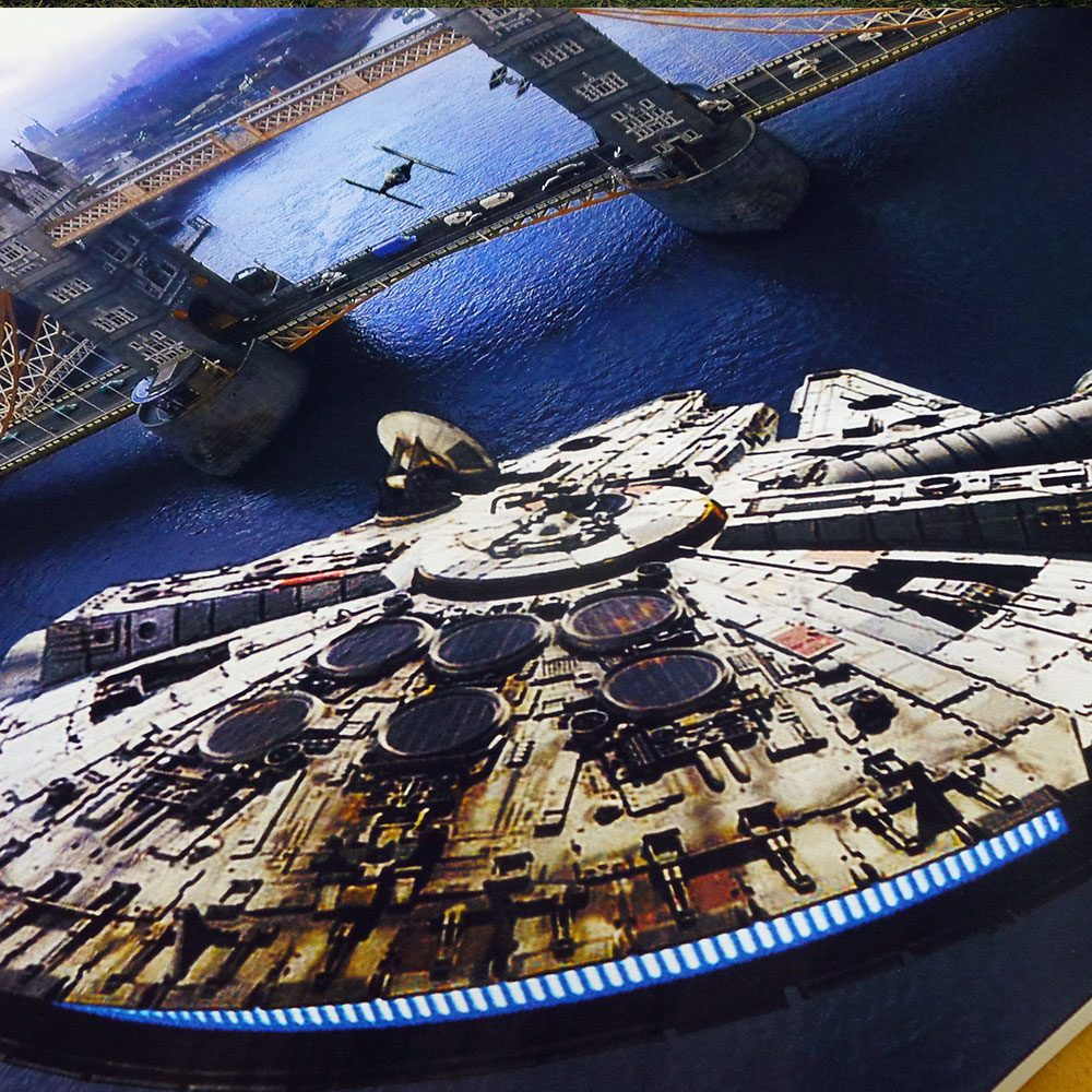 Star Wars v Tower Bridge - canvas print detail