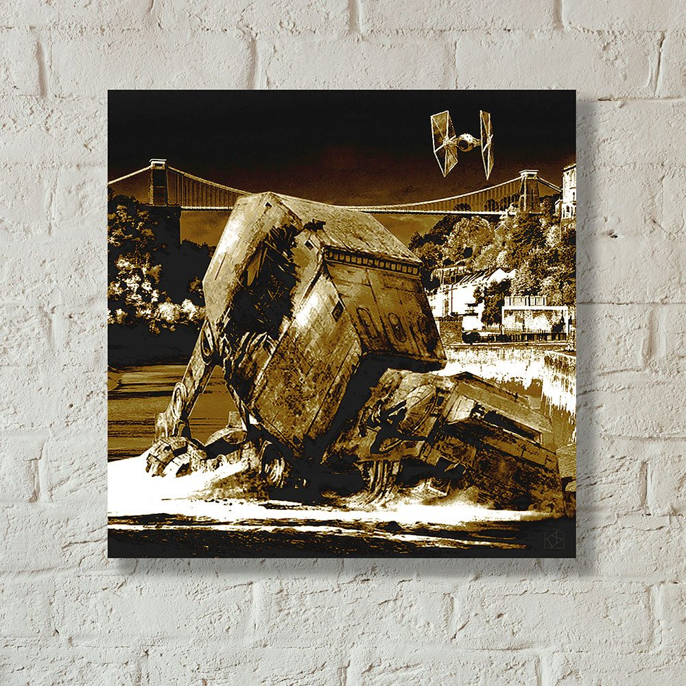 Star Wars vs Bristol - Walker Down Over Over Avon Gorge - canvas print