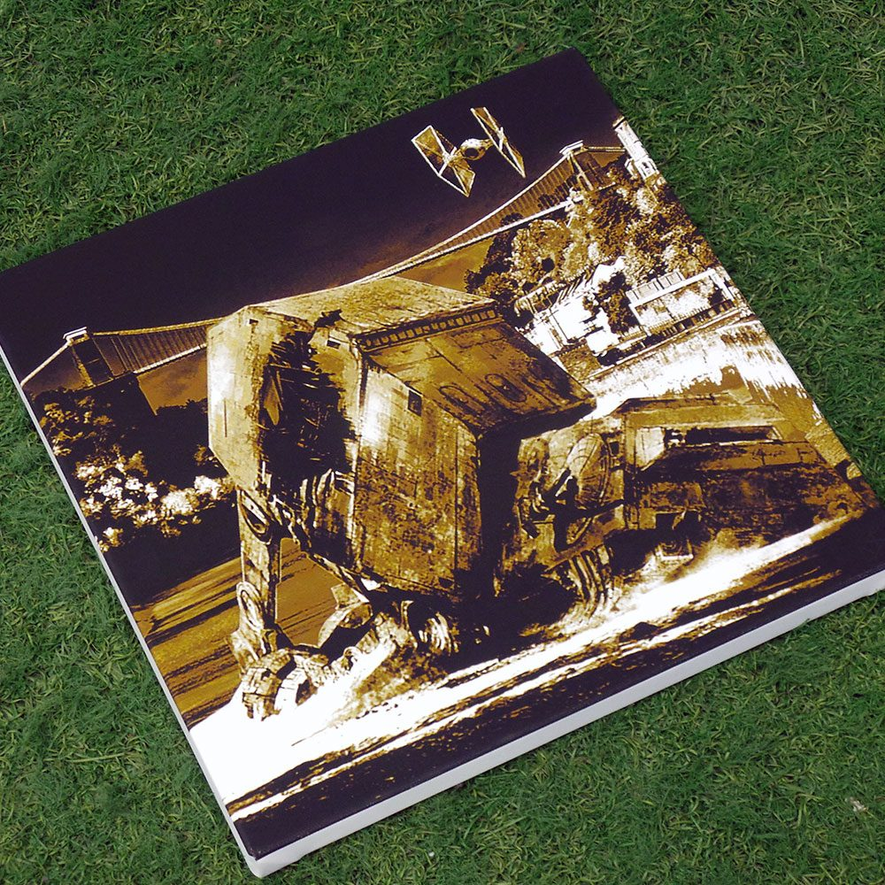 Star Wars vs Bristol - Walker Down Over Over Avon Gorge - canvas print