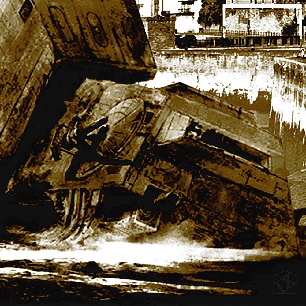Star Wars vs Bristol - Walker Down Over Over Avon Gorge - canvas print detail